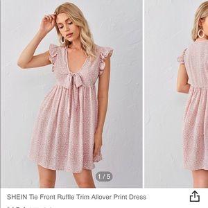 Light pink baby doll dress
